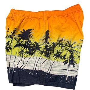 OLD NAVY SWIM TRUNKS TROPICAL SUNSET SMALL